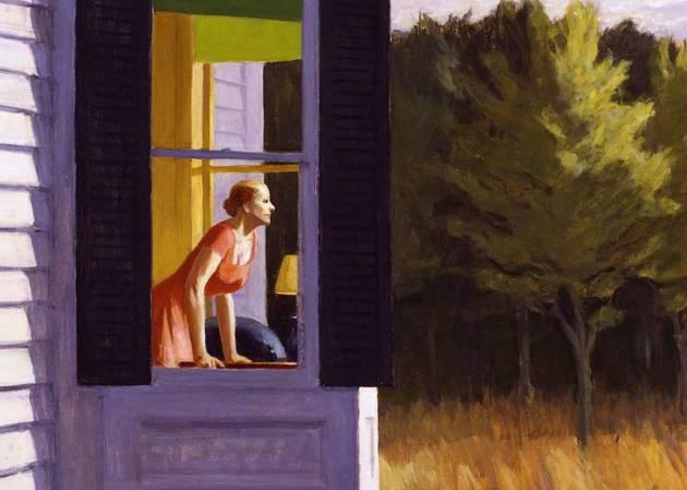 Detalle de 'Mañana en Cape Cod', de Edward Hopper