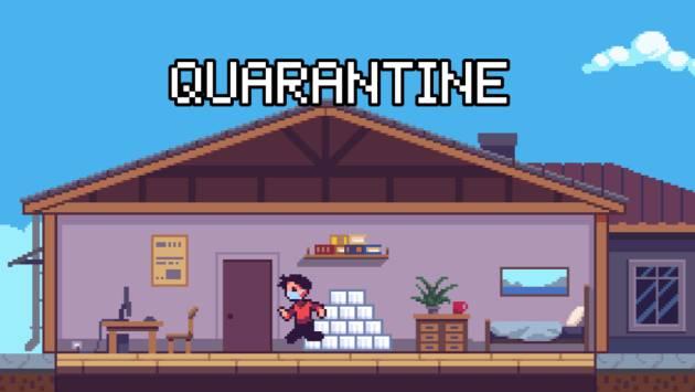 '2020 Game', el videojuego gratuito donde esquivar el coronavirus y guardar papel higiénico