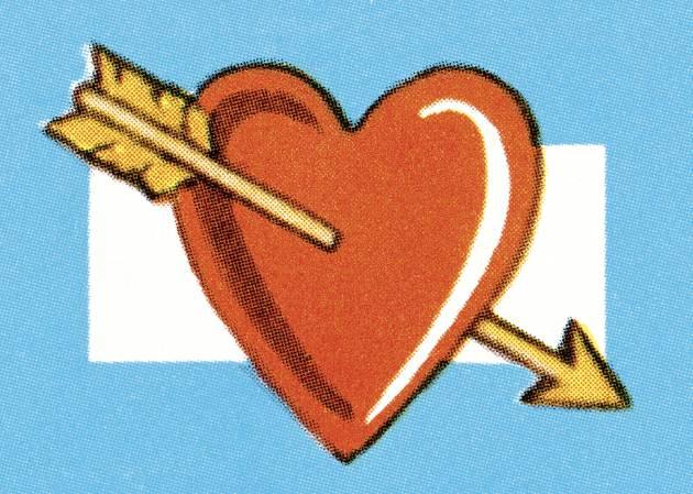 Desde cuándo usamos un corazón atravesado por una flecha como metáfora del amor